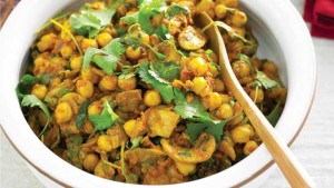 chickpea-mushroom-and-spinach-curry